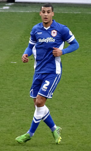 Lee Peltier - Peltier playing for Cardiff City in 2015