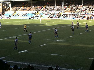 Sport in England - Leeds Rhinos playing at the 2008 boxing day friendly against Wakefield Trinity Wildcats at Headingley Cricket Ground, Leeds