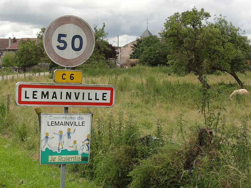 Lemainville(M-et-M) city limit sign
