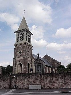 Lesdins (Aisne) église.JPG