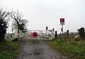 Level crossing on Church Lane - geograph.org.uk - 1060600.jpg