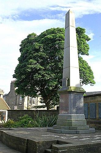 Scoonie - War Memorial of the Parish of Scoonie, Durie St., Leven