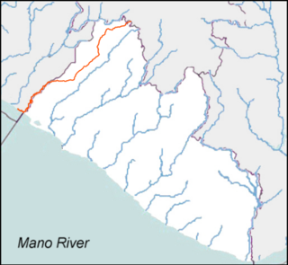 Mano River river in west Africa