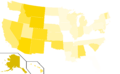 Libertarian Party presidential election results, 1984 (United States of America).png