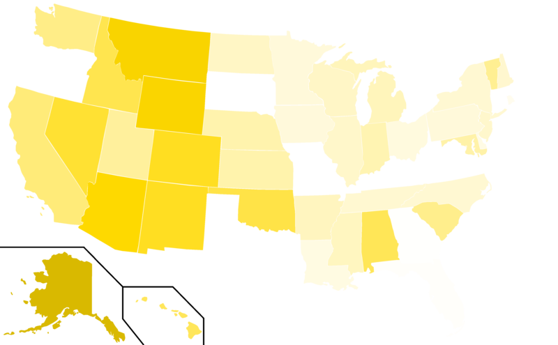 File:Libertarian Party presidential election results, 1984 (United ...