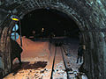 Ligne Saint-Gervais - Vallorcine - ouverture porte tunnel Montets cote Montroc 2.JPG