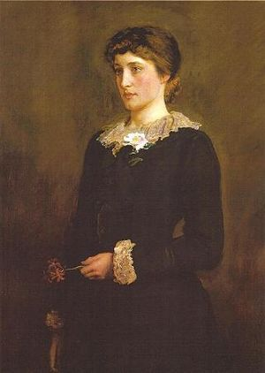 Lillie Langtry - A Jersey Lily by Millais