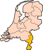 Map: Province of Limburg in the Netherlands