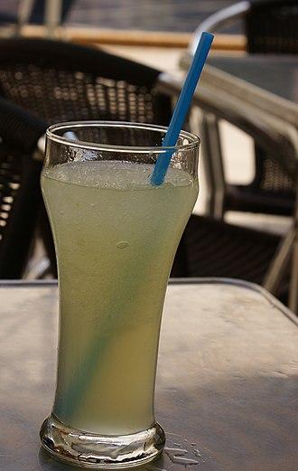 Granizado - Lemon granizado in Valencia
