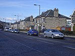 Linden Avenue. Close to the centre of Stirling, looking north.