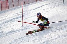 Lindsey Vonn in gara ad Aspen il 26 novembre 2006