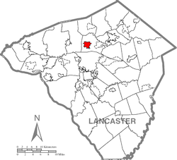 Lititz, Lancaster County Highlighted.png