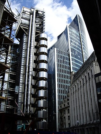 Willis Building (London) - Image: Lloyd's & Willis Building from Lime Street (9.7.07)