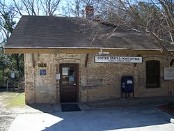 Old Lloyd Railroad Depot, now the area's post office