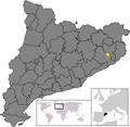 Location of Riudellots de la Selva.png
