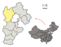 Location of Zhangjiakou Prefecture within Hebei (China).png