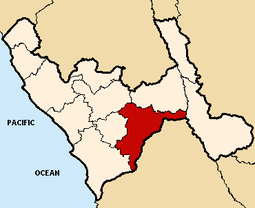 Location of the province Santiago de Chuco in La Libertad.PNG