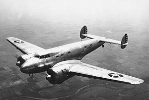 Lockheed XC-35 - The XC-35 in flight