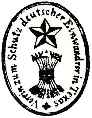 August von Bibra - Logo of Verein zum Schutze Deutscher Einwanderer in Texas