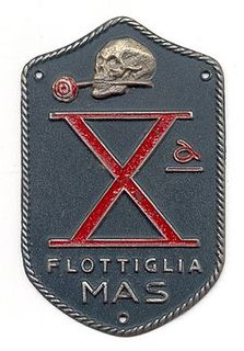 Decima Flottiglia MAS Italian naval commando frogman unit of the Fascist era