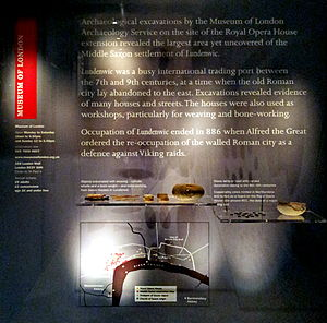 Museum of London Archaeology - Display of finds at the Lundenwic site