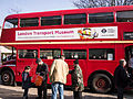 London Transport Museum Routemaster prototype RM1 (SLT 56), LT Museum Acton depot open day, 11 March 2012 (3).jpg