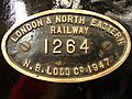London and North Eastern Railway (LNER) Thompson Class B1 no.1264, Manufacture plate (6133417630).jpg