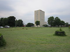 Looking towards tower blocks at Abbey Hey, Gorton.JPG