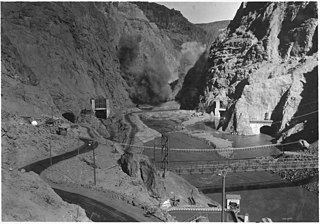 file:looking upstream into black canyon toward hoover dam