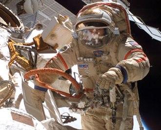 Michael López-Alegría - López-Alegría conducting EVA during Expedition 14.