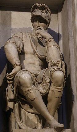 Lorenzo de Medici (Michelangelo) Cappelle Medicee Firenze.jpg