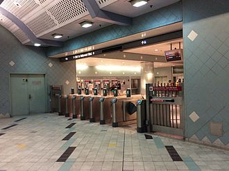 Hollywood/Highland station - The ticket machine and the faregate