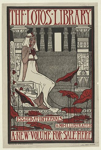 Violet Oakley - Lithograph by Oakley for The Lotos Library (1896)