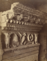 Louis-Auguste Bisson with Auguste-Rosalie Bisson, Detail of the Architrave of the Temple of Vespatian, Roman Forum, Rome, 1860s, Albumen silver print, 38.2 x 28.2 cm, MoMA, 68.1988.png
