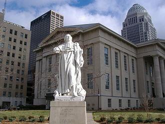 Louisville Metro Hall - Image: Louis XVI statue JCC