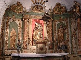 Château fort de Lourdes - Altar from Saint-Pierre de Lourdes, now in the chapel