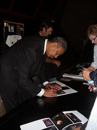 Lucien Barbarin - Lucien Barbarin signing autographs at the Sydney Opera House after appearing with Harry Connick Jr.