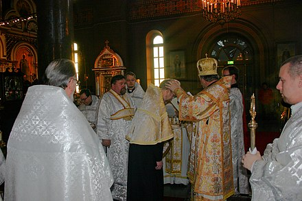The ordination of a reader in Finland. Lukijaksivihkiminen.jpg