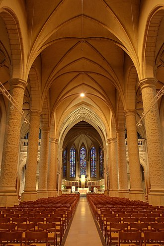 Notre-Dame Cathedral, Luxembourg - Nave of the Cathedral.