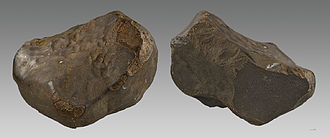 Enstatite chondrite - Saint-Sauveur meteorite, enstatite chondrite. Muséum de Toulouse.