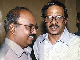 M. T. Vasudevan Nair - MT along with Ramachandra Babu, who served as cinematographer in many of his films.