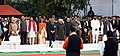 M. Hamid Ansari, the Prime Minister, Shri Narendra Modi and the Minister of State for Culture and Tourism (Independent Charge), Dr. Mahesh Sharma at Gandhi Smriti, on the occasion of the Martyr's Day, in New Delhi (2).jpg