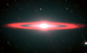infrared image of Sombrero galaxy