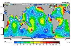 Наибольшая высота приливов в индийском океане