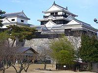 MEIN&SMALL CASTLE TOWER ,MATSUYAMA CASTLE(IYO).JPG