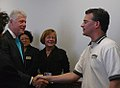 MN- Labor 2008 Co-director; LIUNA's Russ Hess with Bill Clinton in SE MN (3003422898).jpg