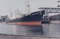MV Bernhard Howaldt in the port of Malmo (Sweden) - 1957.png