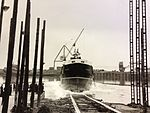 MV Ramsey launched at Troon..JPG