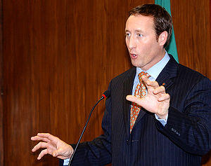 Peter MacKay - Peter MacKay speaking in Brazil, 2007.