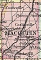 Macoupin County excerpt from 1855 Illinois county map.JPG